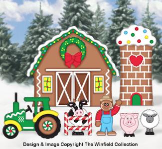 Gingerbread Village Farm Woodcraft Pattern