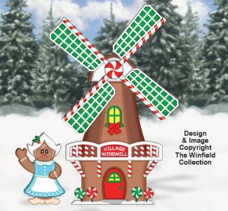 Gingerbread Windmill Woodcraft Pattern