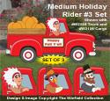Medium Holiday Rider #3 Woodcraft Pattern Set