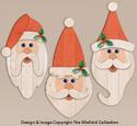 Pallet Wood Santa Faces Woodcraft Pattern