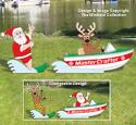 Waterskiing Santa & Reindeer Woodcraft Pattern