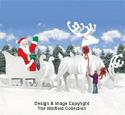 Ginormas Santa, Sleigh & Reindeer Pattern Set