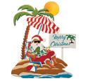 Santa On The Beach Woodcraft Pattern