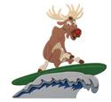 Rudolph Surfing Woodcraft Pattern