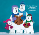 Caroling Polar Bear Family Wood Pattern