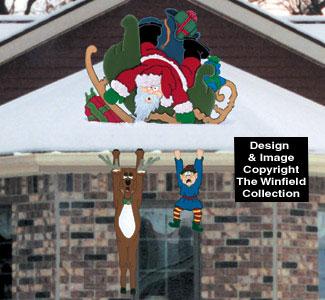 Santa Crash Woodcrafting Pattern
