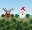 Santa's Watching Fence Peeker Woodcraft Pattern