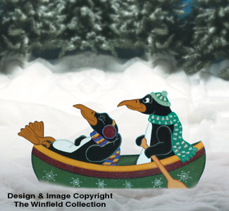 Canoeing Penguins Woodcraft Pattern