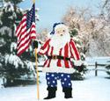 Patriotic Santa Woodcrafting Pattern