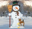 Bad Doggie Snowman Wood Pattern