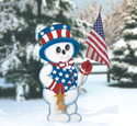 Patriotic Snowman Woodcraft Pattern
