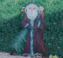 Old Santa With Tree Woodcraft Pattern
