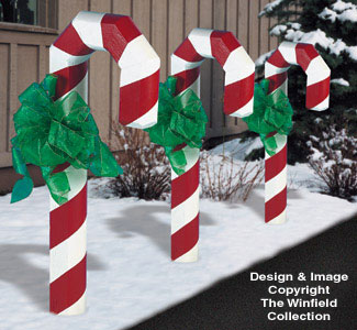 landscape timber candy cane plans - Candy Cane Outdoor Christmas Decorations