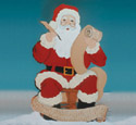 Santa With List Woodcraft Pattern