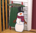 Snowman & Sled Welcome Woodcraft Pattern