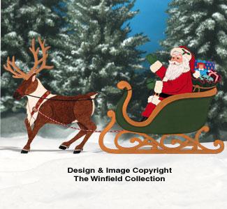 Reindeer Amp Sleighs Realistic Santa Amp Reindeer Pattern Set