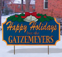 Personalized Holiday Greeting Pattern