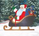 Santa In Sleigh Woodcraft Pattern