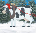 Christmas Cow Woodcrafting Pattern
