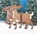 Reindeer Woodcrafting Pattern