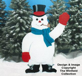 Giant Snowman Woodcraft Pattern