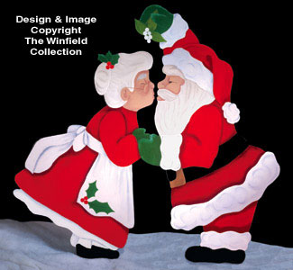 All Christmas Christmas Kiss Woodcraft Pattern