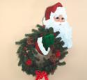 Santa Wreath Holder Wood Pattern