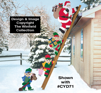 Santa & Elves - Climbing Elves Woodcraft Pattern