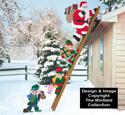 Climbing Claus & Elves Pattern Combo