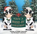 Mooo-ry Christmas Sign Wood Pattern