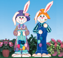 Easter Bunny Couple Woodcraft Pattern