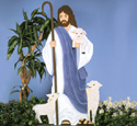 Jesus with Lambs Woodcraft Pattern