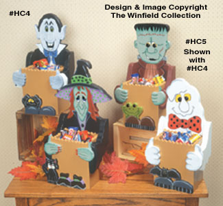 Halloween Candy Boxes #2 Wood Pattern
