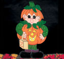 Pumpkin Trick Or Treater Pattern