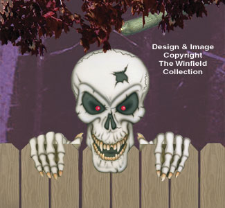 Large Scary Skull Woodcraft Pattern