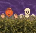Scarecrow/Skull Fence Peeker Wood Pattern