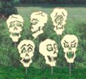 Scary Skull Cutouts Woodcraft Patterns