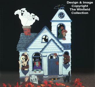 Haunted House Woodcraft Pattern