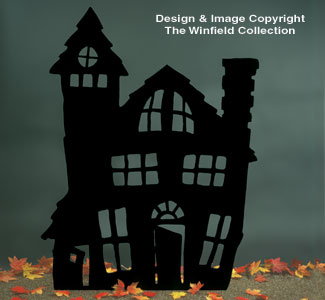Haunted House Shadow Woodcraft Pattern
