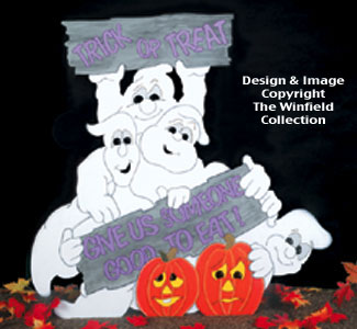 Ghostly Greeting Woodcrafting Pattern