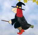 Broom Riding Witch  Woodcraft Pattern