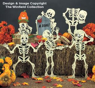 Scary Skeletons Woodcraft Pattern