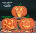 Pumpkin Faces Woodcraft Pattern
