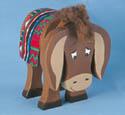 Layered Donkey Woodcraft Pattern