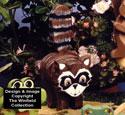 Layered Raccoon Woodcraft Pattern