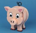 Layered Pig Woodcraft Pattern