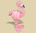 Layered Flamingo Woodcraft Pattern