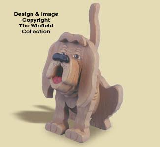 Layered Bloodhound Woodcraft Pattern