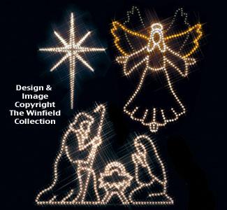 angel star nativity nite lite pattern set