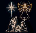 Angel, Star & Nativity Nite-Lite Pattern Set